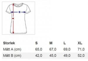 Storlekar T-shirt Dam